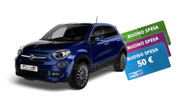 FIAT 500x e buoni spesa Acqua&Sapone