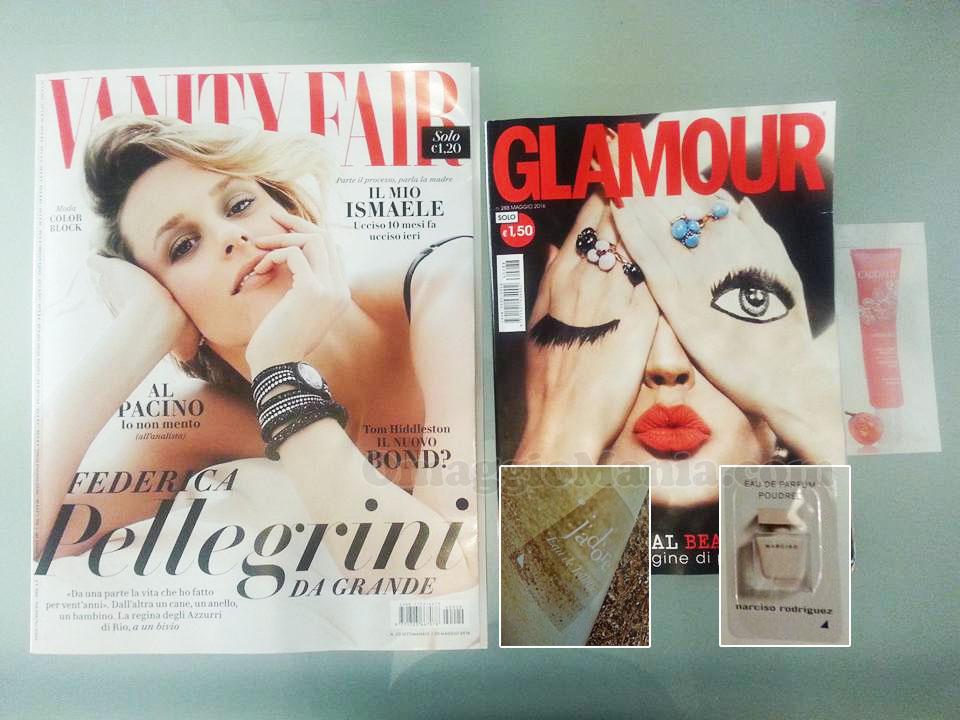 Vanity Fair 22 e Glamour 88 di Valeria