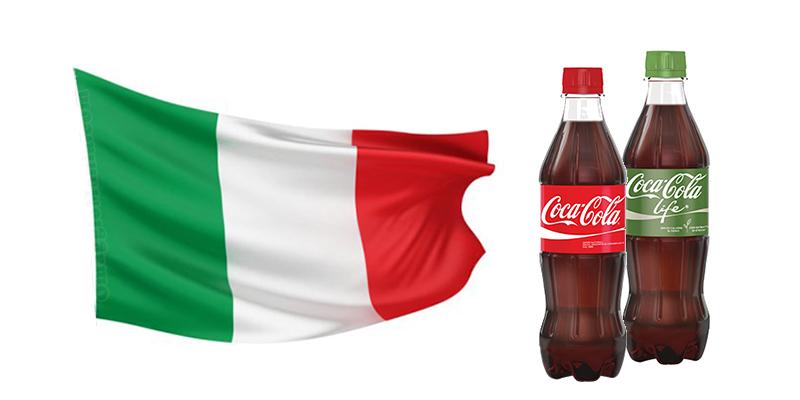 bandiera Italia omaggio con Coca Cola