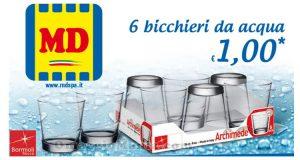 bicchieri da acqua 1 euro MD LD
