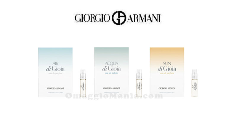 campioni omaggio Giorgio Armani Gioia