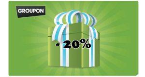 codice Groupon sconto 20%