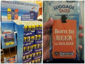 etichetta bagaglio omaggio da Bavaria e espositore