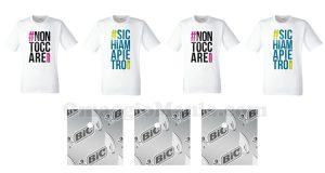 gratta e vinci t-shirt hashtag BIC