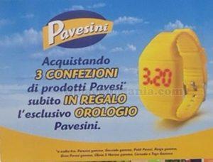 orologio Pavesini omaggio