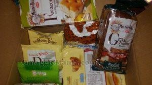 pacco di prodotti Mulino Bianco ricevuto da Marina
