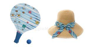 racchettoni e cappello da spiaggia Thun
