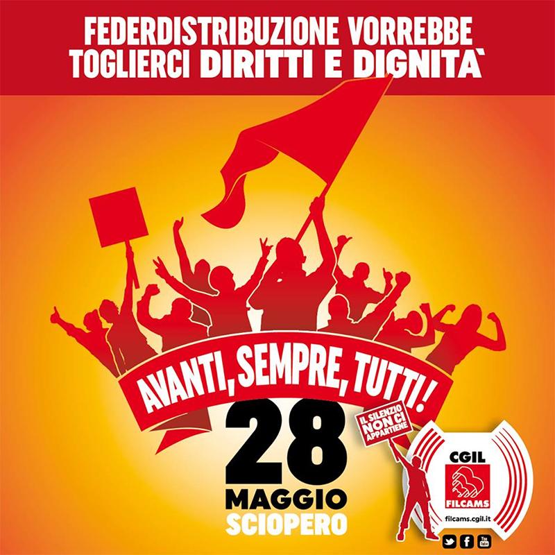 sciopero grande distribuzione 28 maggio 2016
