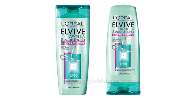 shampoo balsamo L'Oréal Elvive Argilla Straordinaria