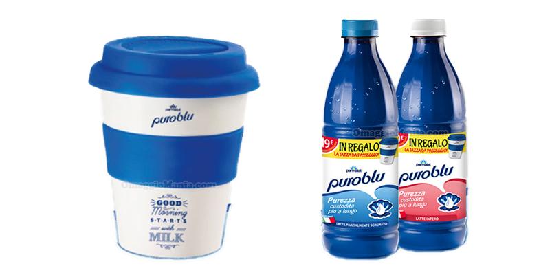 tazza da passeggio omaggio con Parmalat Puro Blu 2