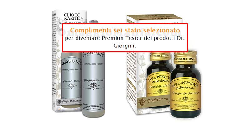 tester Dr.Giorgini olio di karité e melatonina mille gocce