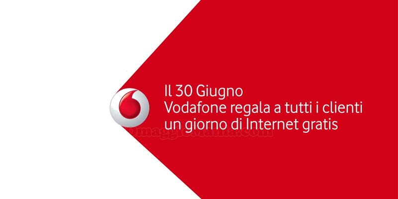 30 giugno Vodafone regala un giorno di Internet gratis