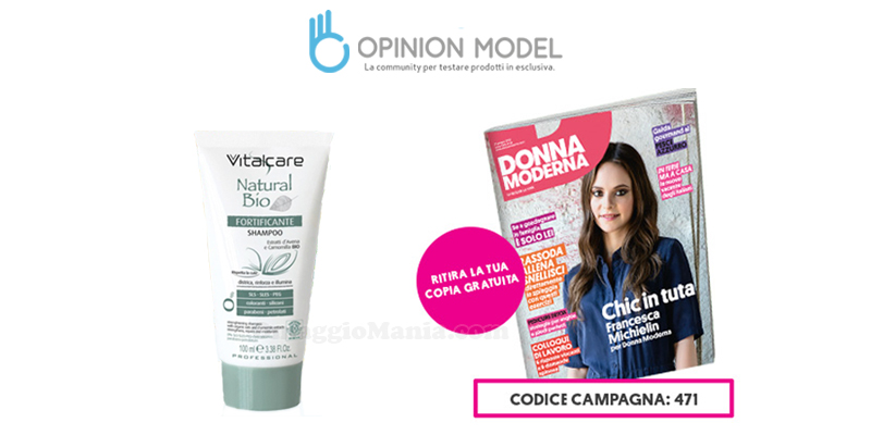 Donna Moderna 26 coupon omaggio con Opinion Model