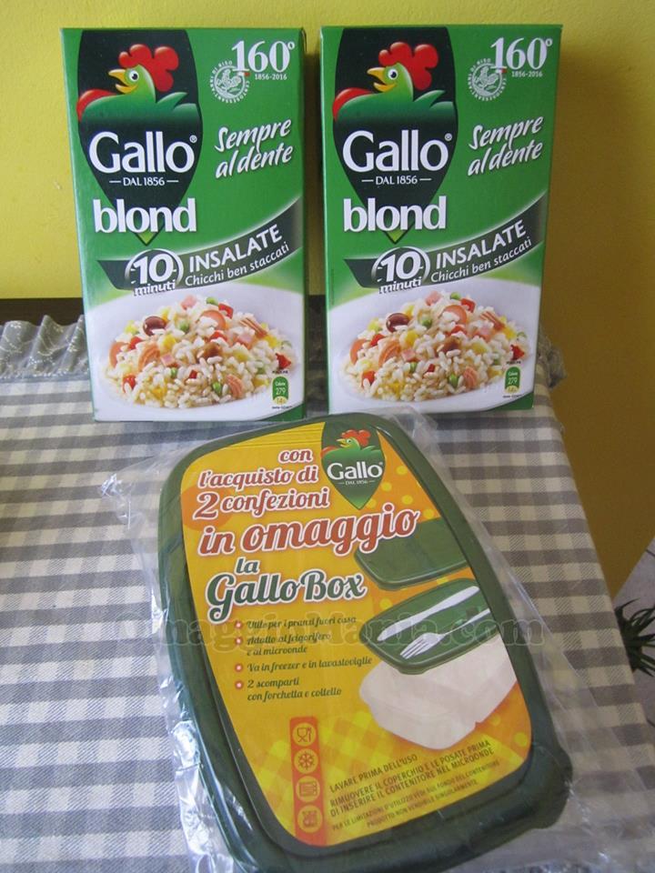 Gallo Box omaggio con Riso Gallo