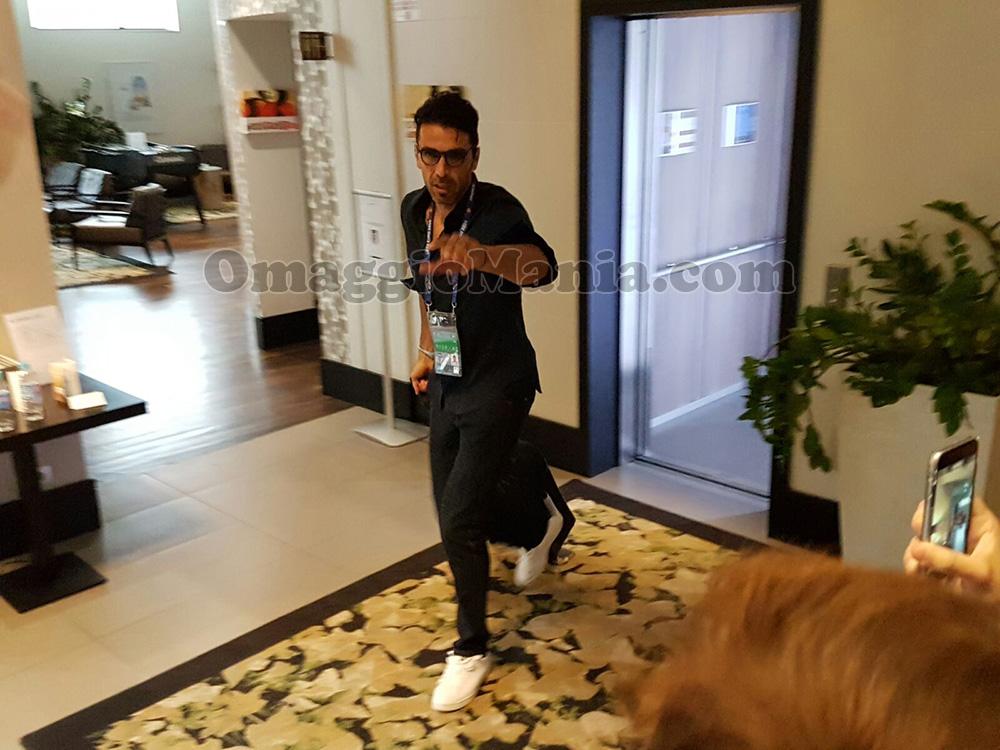 Gianluigi Buffon in hotel a Lyon