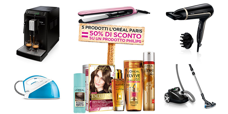 buoni sconto Philips con L'Oréal Paris