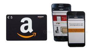 buono Amazon 5 euro con App di Amazon