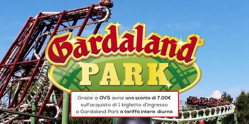 buono sconto Gardaland Park con OVS