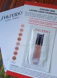 campione omaggio fondotinta Shiseido Synchro Skin di Ro