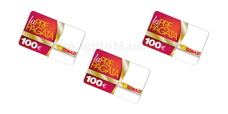 carta prepagata Conad 100 euro