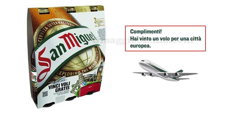 concorso San Miguel Vinci voli gratis