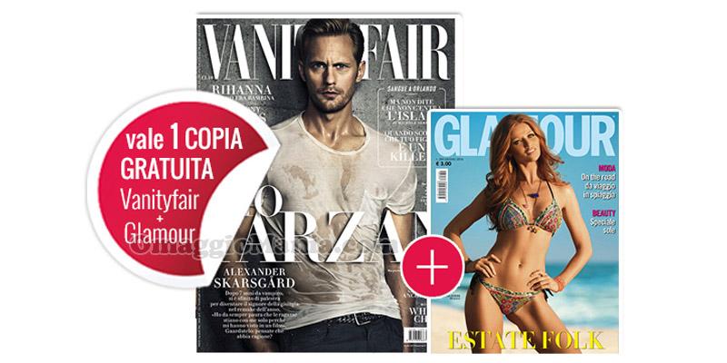 coupon omaggio Vanity Fair 24 e Glamour 289