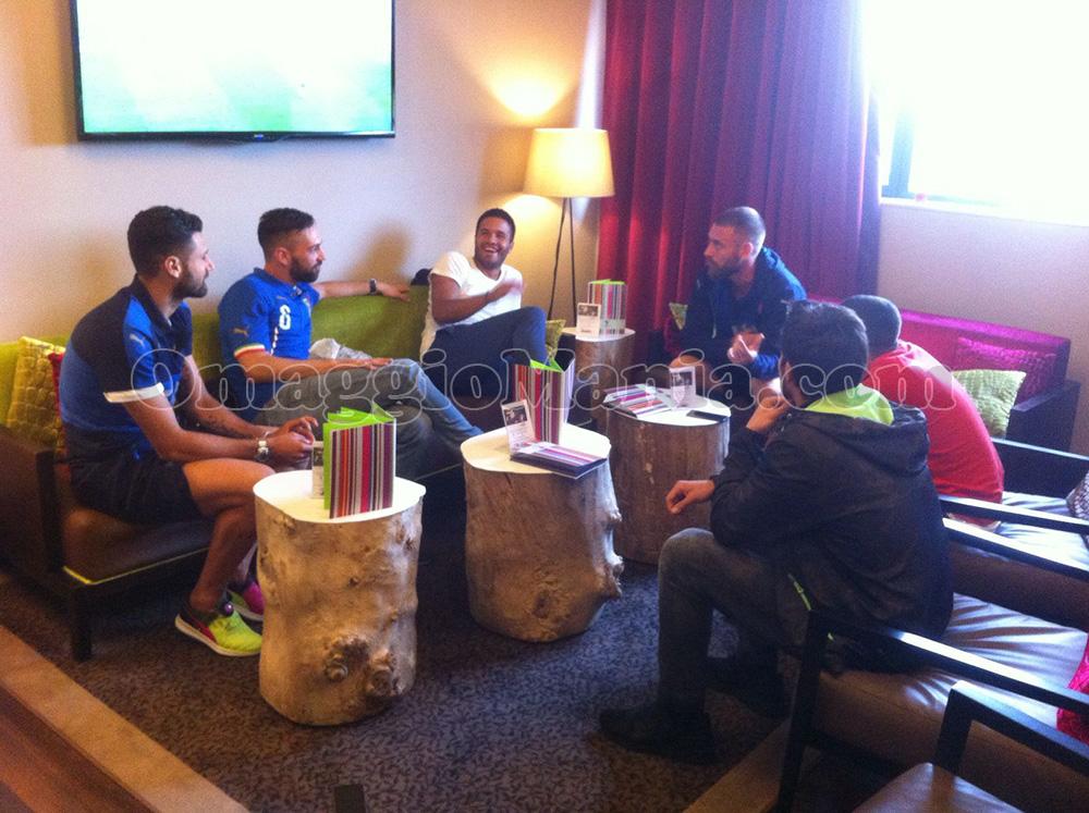 giocatori Italia in hotel a Lyon