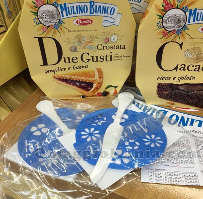 kit decoro torte e coltello Mulino Bianco di Marco