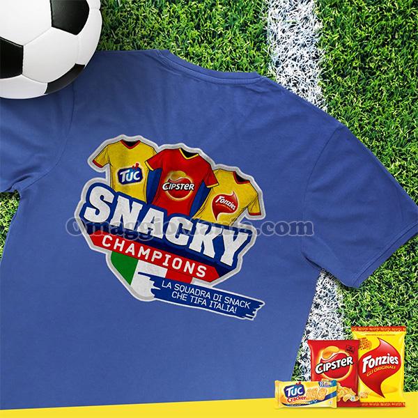 maglietta Snacky Champions con Fonzies, Tuc e Cipster