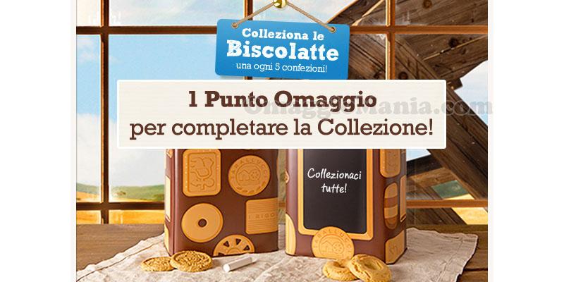 punto omaggio Colleziona le Biscolatte Mulino Bianco