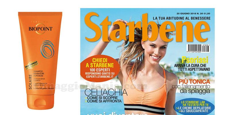 rivista Starbene 26 con shampoo riparatore doposole Biopoint