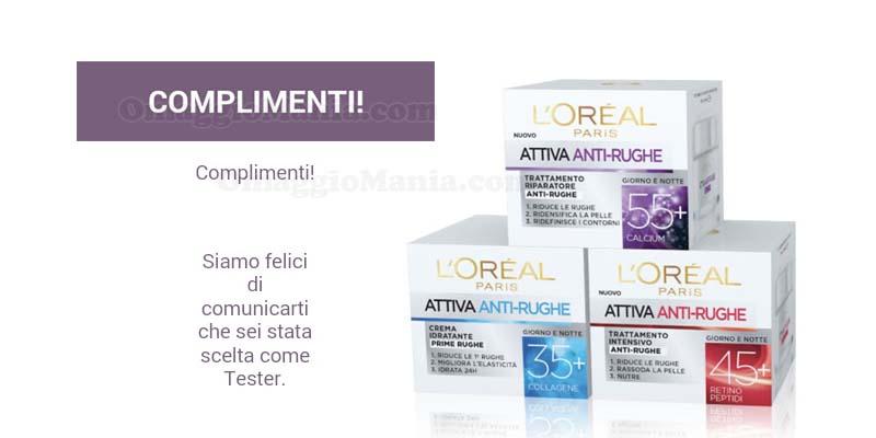 tester Attiva Anti-rughe L'Oréal