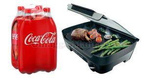 vinci griglia da tavolo Philips con Coca Cola
