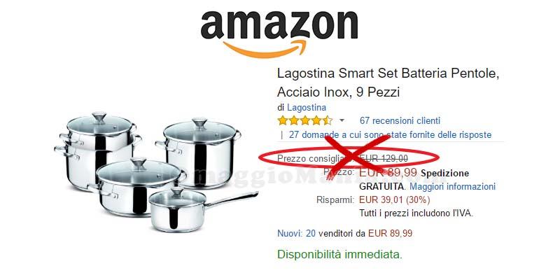 Amazon eliminerà il prezzo consigliato