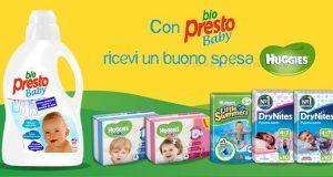 Con Bio Presto Baby ricevi un buono spesa Huggies