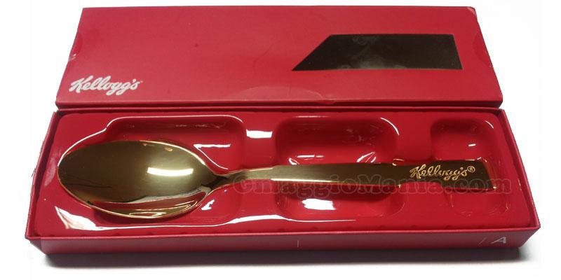 Cucchiaio d'oro Kellogg's ricevuto da Laura