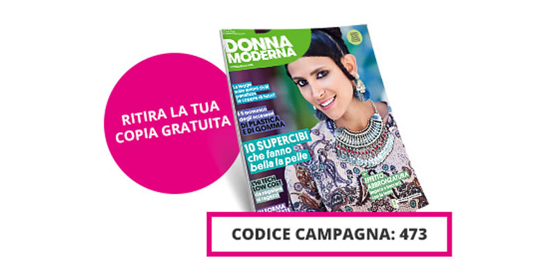 Donna Moderna 28 coupon copia omaggio