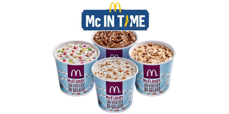 Mc in Time McFlurry a 2 euro