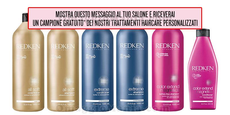 Redken shampoo conditioner campioni omaggio