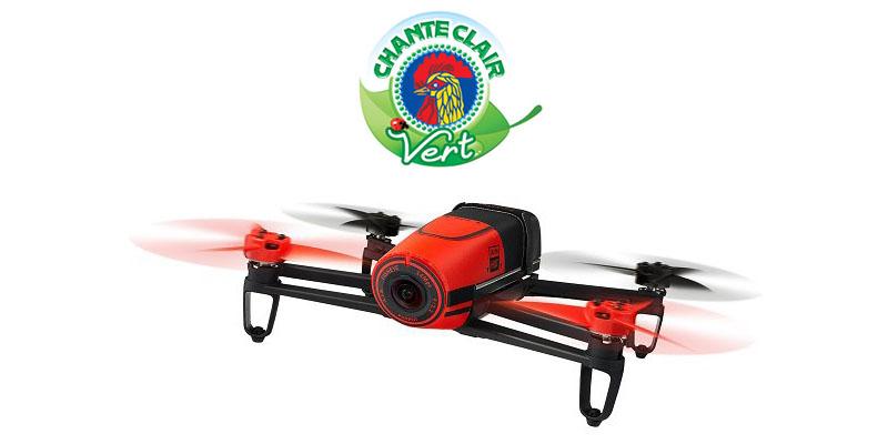 Vinci drone Parrot con Chante Clair