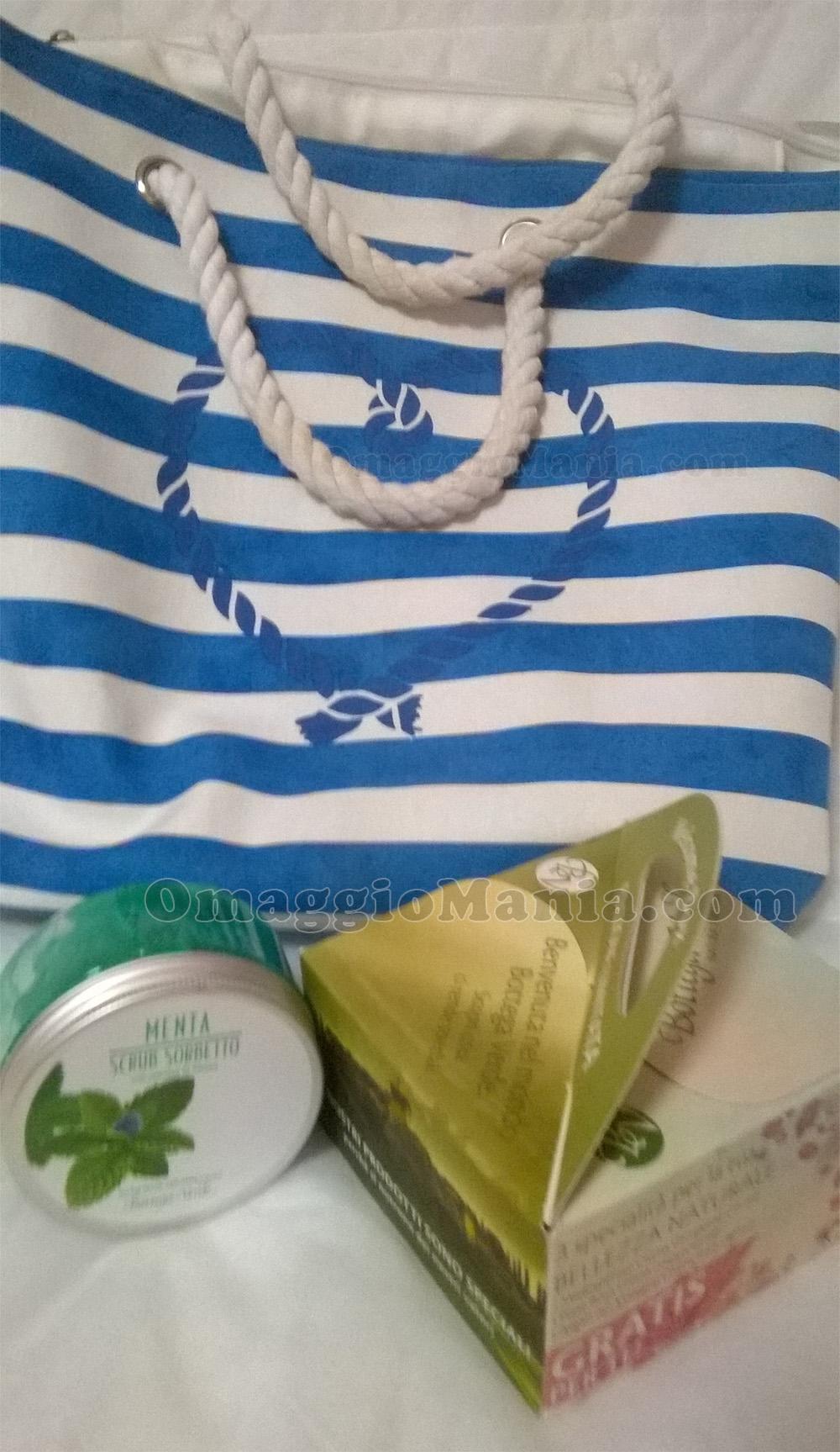 borsa mare e Welcome Box Bottega Verde di Lory