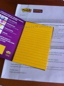 campioni omaggio Post-it Super Sticky di Cicciotella