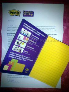 campioni omaggio Post-it Super Sticky di Gaetano