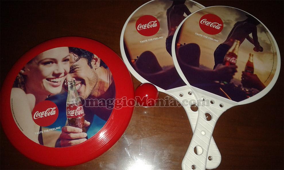 frisbee e racchette beach tennis Coca Cola di Federico Maria