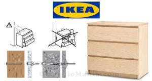 kit accessori antiribaltamento cassettiere IKEA