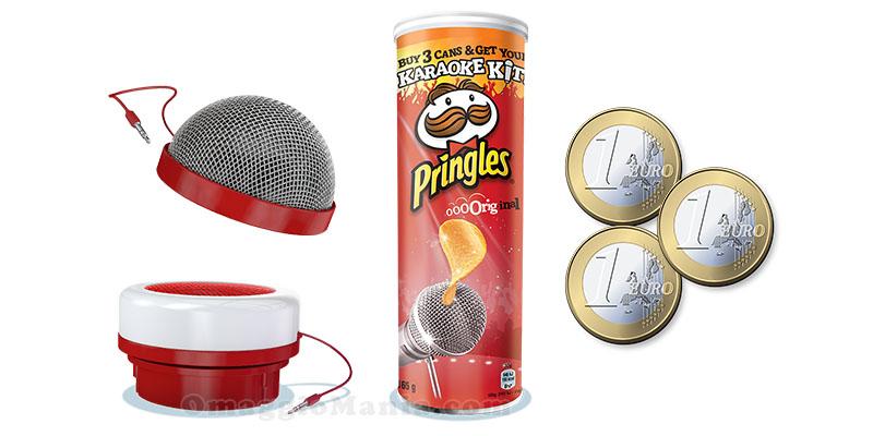 kit karaoke pringles ora con contributo di 3 omaggiomania. Black Bedroom Furniture Sets. Home Design Ideas