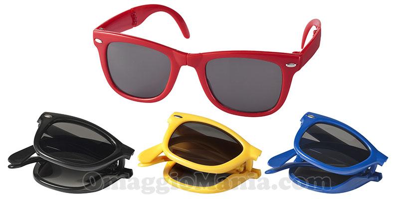 occhiali da sole pieghevoli