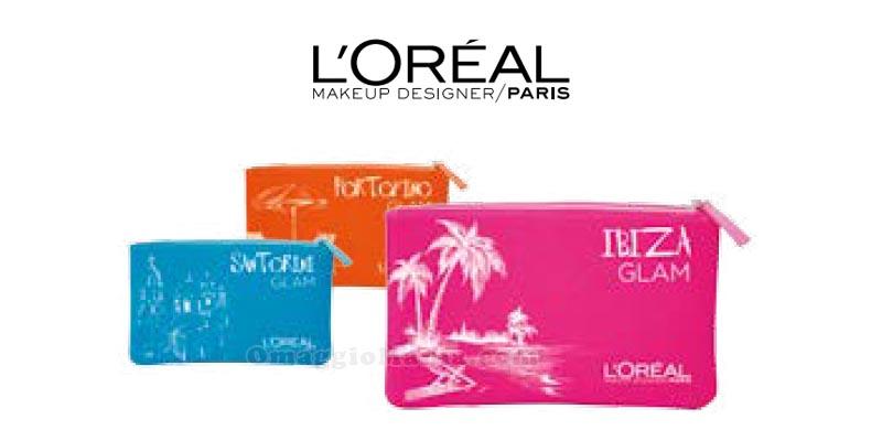 pochette Glam omaggio da L'Oréal