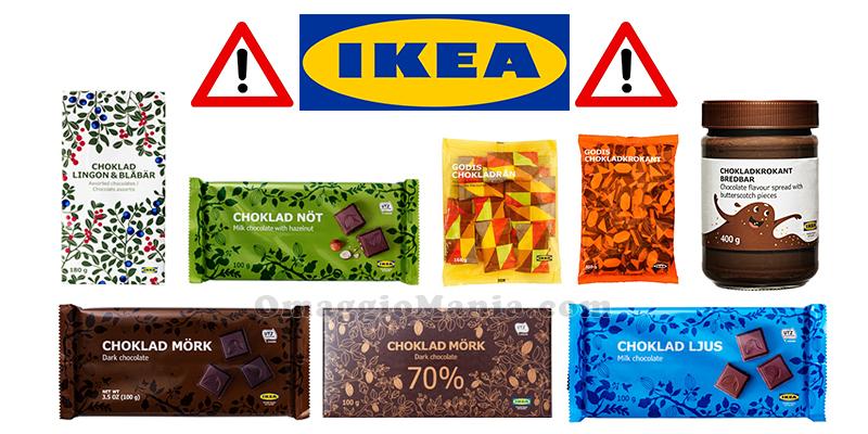 richiamo IKEA 8 prodotti al cioccolato