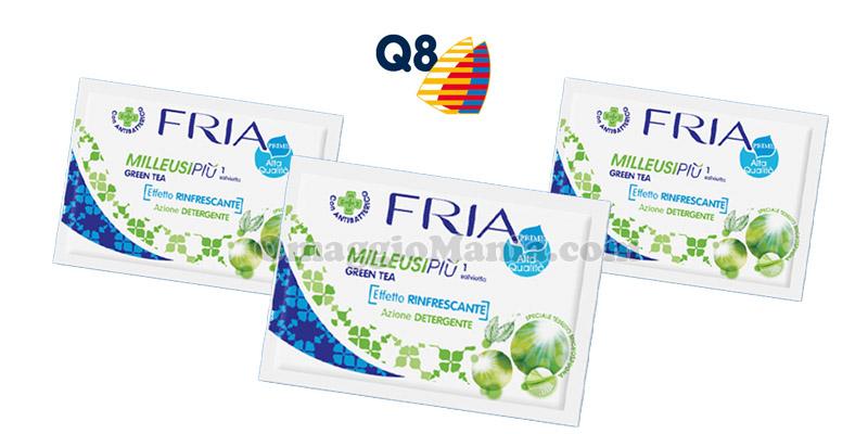 salvietta FRIA omaggio da Q8-4U